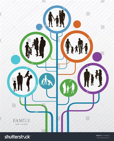 Family Concept Background Abstract Tree Family Stock Vector 157485602 Shutterstock Family Tree Concept Stock Vector