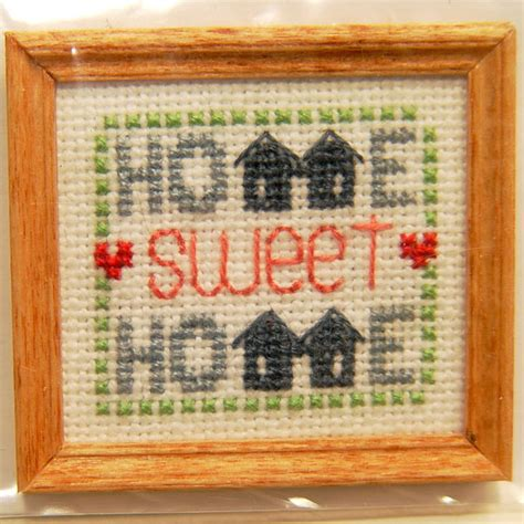 Wholesale Home Interior framed home sweet home cross stitch stewart dollhouse