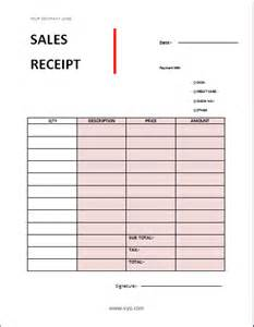 cash receipt format for sale of car word microsoft