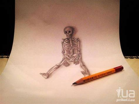 Объемные картинки карандашом поэтапно