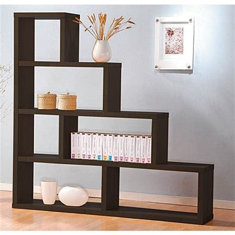 Step Shelves Living Room reside espresso divider 4 step shelving tables