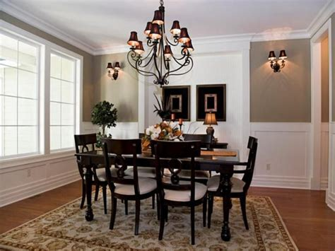 Formal Dining Room Table Decorating Ideas Formal Dining Room Decorating Ideas Barred Window Molding Chair Ceiling Light Chandelier Flower