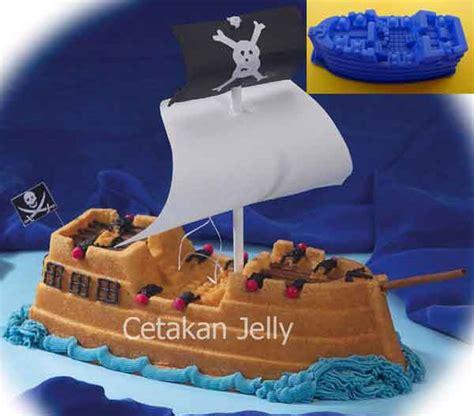 Cetakan Pudingkue Silikon Driving cetakan silikon kue puding pirate ship cetakan jelly cetakan jelly
