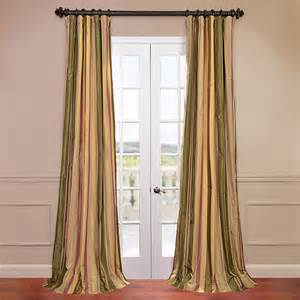 Multi Colored Curtains Exclusive Fabrics Furnishing Faux Silk Taffeta Multi Color Stripe Curtain Atg Stores