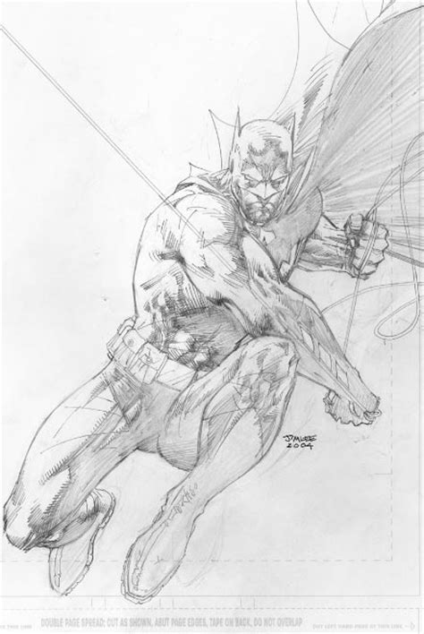 sketchbook jim batman silence sketchbook de jim