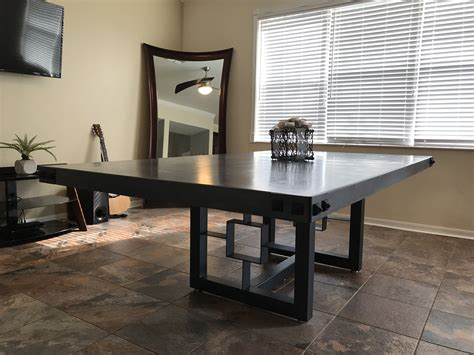 handmade dining table ft  ft    thick concrete