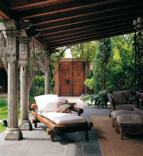 Outdoor Bamboo Rugs For Patios by Covered Outdoor Patios Exterior Tropical With Back Balcony