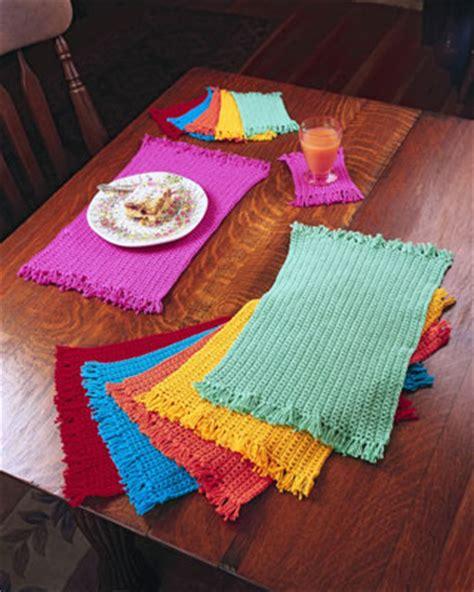 Crochet Table Mats - how to crochet placemats dummies