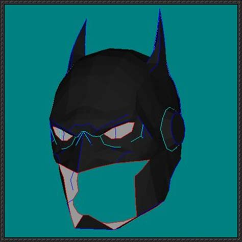 Papercraft Batman Mask - justice league war batman s helmet free papercraft