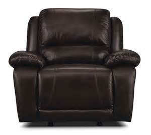 marco genuine leather rocker reclining chair chocolate