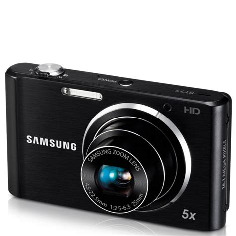 Kamera Samsung Hd 5x Samsung St77 Compact Digital 16mp 5x Optical 2 7inch Lcd Black Iwoot