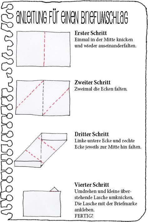 Brief Schreiben Muster Umschlag anleitung f 252 r einen faltbrief handmade kultur