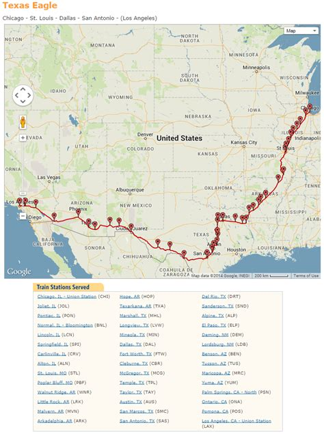 amtrak texas eagle route map amtrak coast starlight trip summary and my traveling thoughts