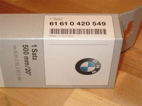 Bmw Part Number by Diy Changing Your Bmw Wiper Blades