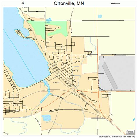 ortonville minnesota map 2748706