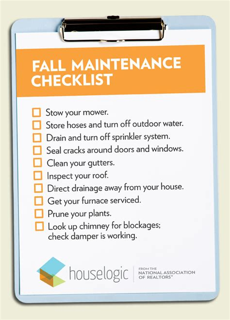 fall home maintenance checklist to get your home ready for
