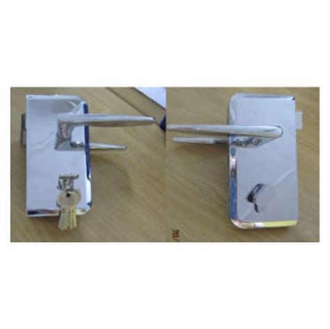 latch lock glass to glass with or without key showerline