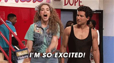 excited gif so excited gif savedbythebell excited yay gifs say more with tenor