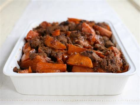 southern style candied yams with gingersnap crunch recipes cooking channel recipe cooking