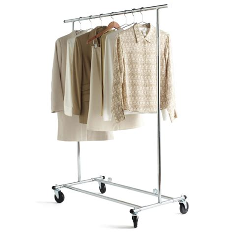 Wardrobe Racks by Clothes Rack Chrome Metal Folding Commercial Clothes