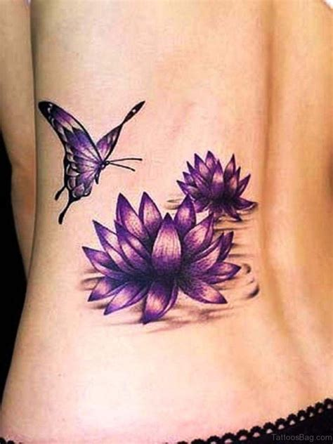 blue lotus flower tattoo 91 fabulous flowers tattoos on lower back