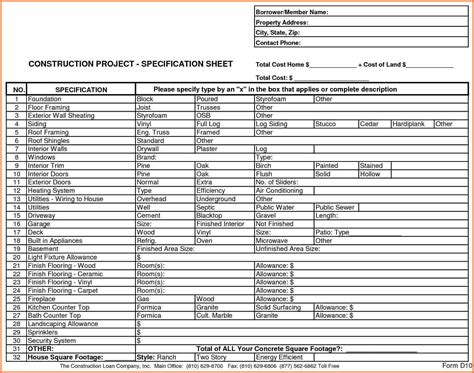 Home Construction Budget Spreadsheet by 3 Home Construction Budget Spreadsheet Excel