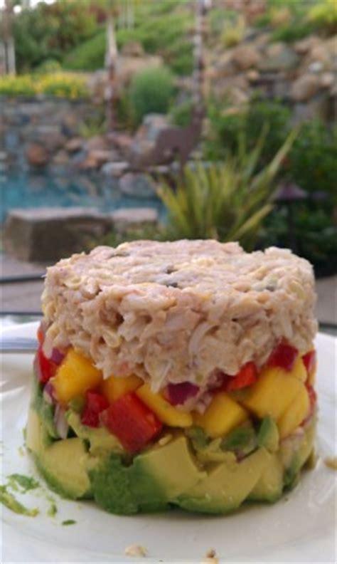 crab and avocado stack crab avocado mango stack recipe food com