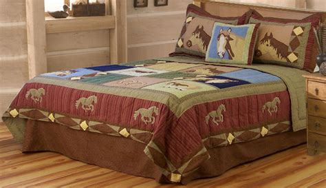 horse bedding horse quilt twin full queen or king