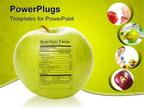 nutrition powerpoint template the nutrition facts sted on an apple powerpoint