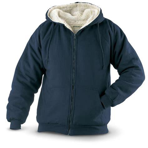 Fleece Lined Zip Hoodie wilderness sherpa lined fleece zip hoodie 155157