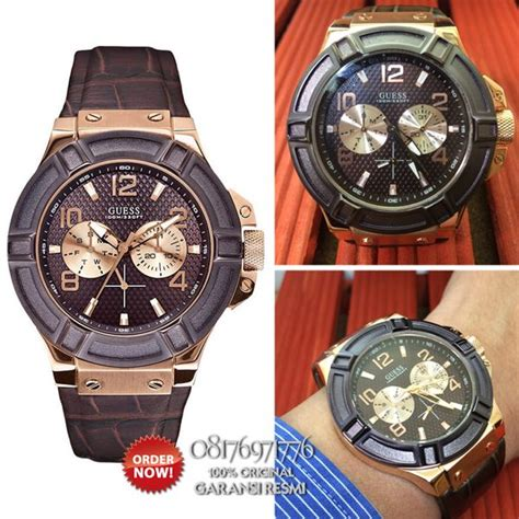 Jam Tangan Pria Guess Original promo jam tangan pria kulit guess w0040g3 original