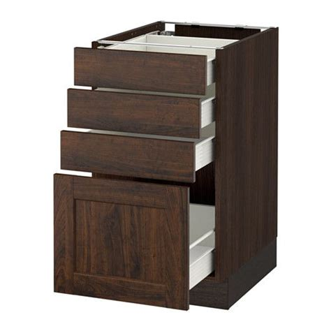 kitchen cabinet drawer construction ikea sektion base cabinet with 4 drawers wood effect