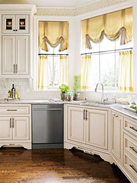 kitchen window curtains images