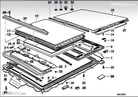 bmw e34 sunroof assembly diagram
