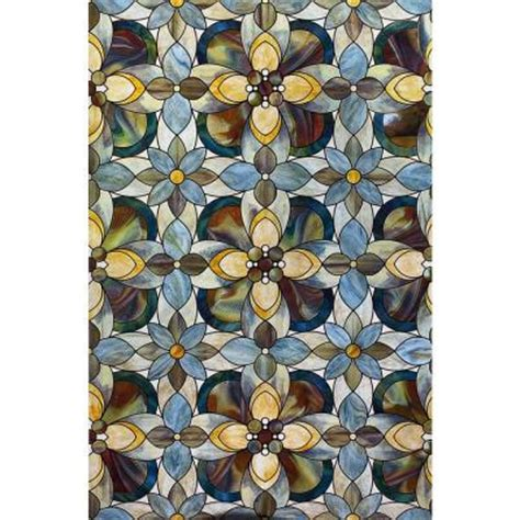 decorative window film home depot artscape 24 in x 36 in quatrefoil decorative window film