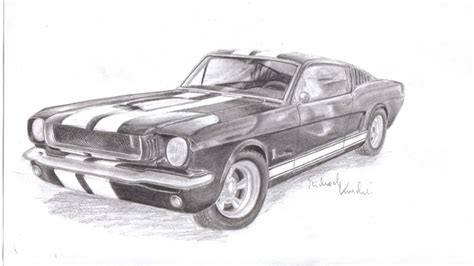 Mustang Auto Zeichnen by How To Draw 65 Mustang