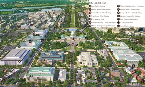 Russell Senate Office Building Floor Plan by Print Friendly Map Of Capitol Hill Architect Of The