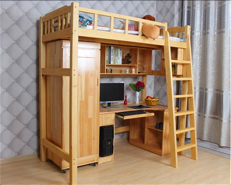 bunk bed with desk and bookcase bunk bed with carbinet desk bookcase dormitary bunk