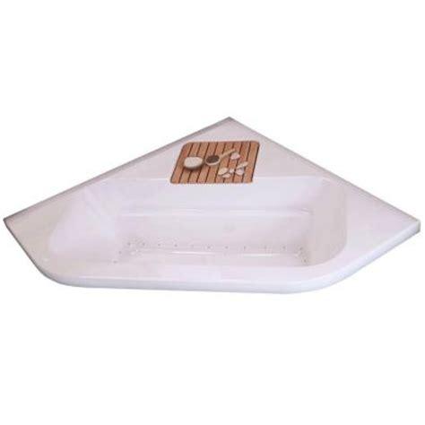 corner bathtub home depot maax loft 5 ft center drain bubble corner soaking tub in