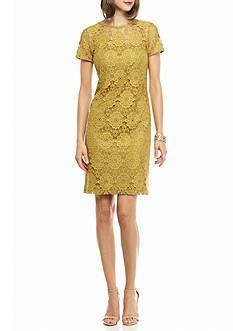 Wst 5880 Mix Print Dress Grid sheath dresses for belk