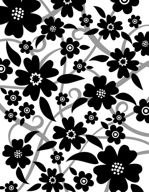 black and white designs black and white flower design many flowers