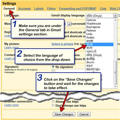 reset gmail language to english change language in gmail image search results