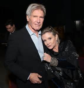 Harrison Ford Carrie Fisher Carrie Fisher Goes After 40 Years Their Steamy