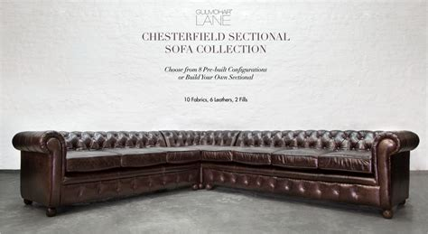 chesterfield sofa sectional chesterfield leather sectionals