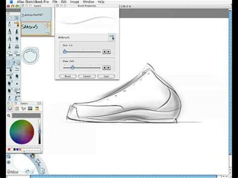 sketchbook computer shoe design sketch demo