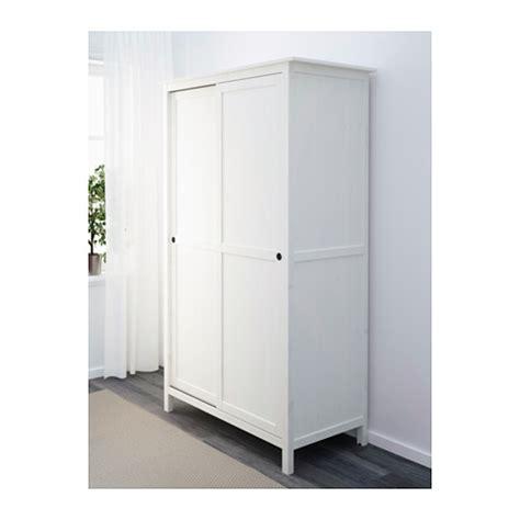 Hemnes Wardrobe White by Hemnes Wardrobe With 2 Sliding Doors White Stain 120x197
