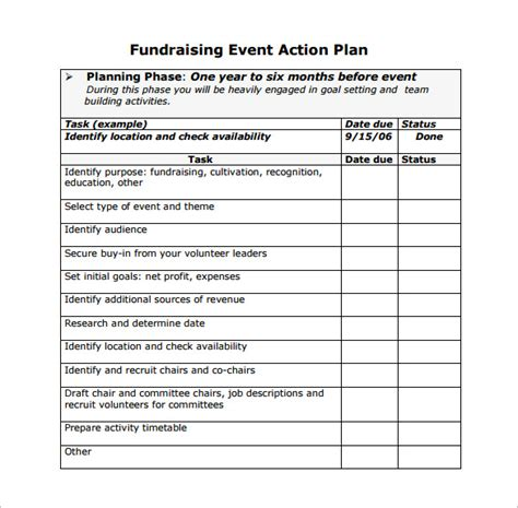Event Planning Template 9 Free Word Pdf Documents Download Free Premium Templates Fundraising Marketing Plan Template