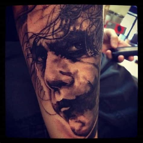 tattoo batman face 3d batman joker face tattoo made on sleeve truetattoos