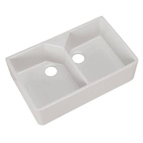 Pegasus Kitchen Sinks Pegasus Farmhouse Apron Front Fireclay 32 In Basin Kitchen Sink In White Fs31 The Home
