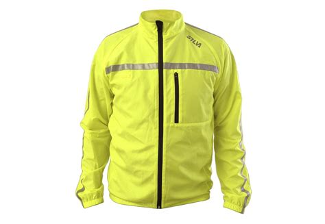 mens hi vis cycling jacket silva mens high visibility hi vis running cycling jackets
